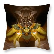 Organic Banana Spider Throw Pillow