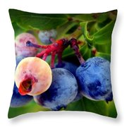 Organic Blues Throw Pillow