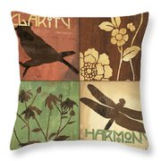 Organic Nature 2 Throw Pillow