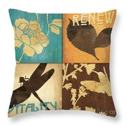 Organic Nature 4 Throw Pillow by Debbie DeWitt