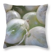Organic Onions Throw Pillow