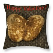 Organic Valentine Throw Pillow