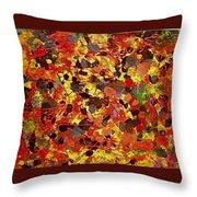 Orgy In Orange Throw Pillow