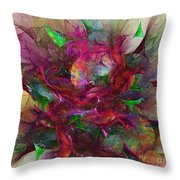 Orgy Of Colors Throw Pillow