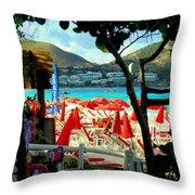 Orient Beach Peek Throw Pillow