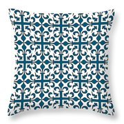 Orient Blue And White Interlude Throw Pillow