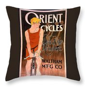Orient Cycles 1890 Throw Pillow