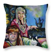 Oriental Fairy Tale. First Part Throw Pillow