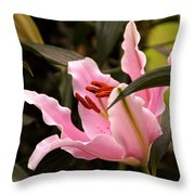 Oriental Lily Beauty Throw Pillow