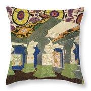 Oriental Scenery Design Throw Pillow