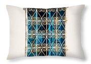 Oriental Window Throw Pillow