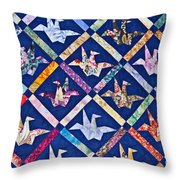 Origami Quilt Wall Art Prints Throw Pillow
