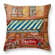 Original Bank Notre Dame Street Throw Pillow