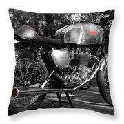 Original Cafe Racer Throw Pillow by Mark Rogan
