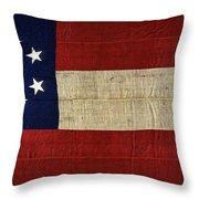 Original Stars And Bars Confederate Civil War Flag Throw Pillow by Daniel Hagerman