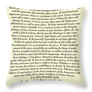 Original Desiderata Poem Throw Pillow