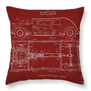 Original Harleigh Holmes Automobile Patent 1932 Throw Pillow
