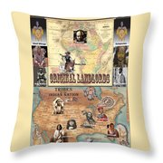 Original Landlords Poster African And Native American Throw Pillow