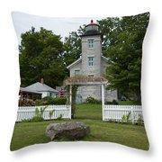 Original Lighthouse Site Throw Pillow