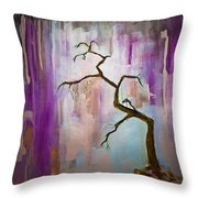 Original Painting Expressionist Contemporary Tree Art Throw Pillow