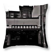 Original Starbucks Black And White Throw Pillow