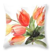 Original Tulips Flowers Throw Pillow