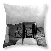 Original Wright Airplane, 1903 Throw Pillow