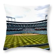 Oriole Park At Camden Yards Throw Pillow