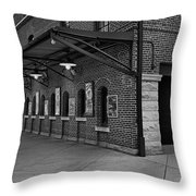 Oriole Park Box Office Bw Throw Pillow