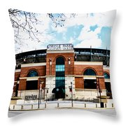 Oriole Park - Camden Yards Throw Pillow