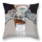 Orioles 60 Yr Anniversary Throw Pillow