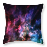 Orion Nebula Rainbow Smoke Throw Pillow
