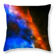 Orion Nebula Rim Throw Pillow