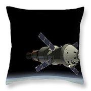 Orion Service Module Throw Pillow