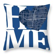 Orlando Street Map Home Heart - Orlando Florida Road Map In A He Throw Pillow