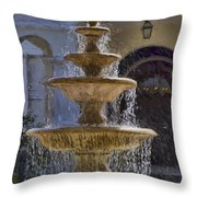 Ormond Water Fountain Throw Pillow