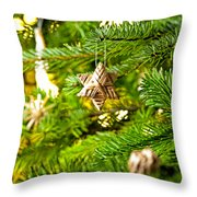 Ornament In A Christmas Tree Throw Pillow
