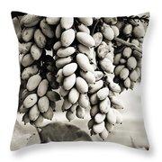 Ornamental Bush - Sepia Throw Pillow