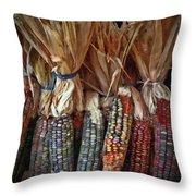 Ornamental Corn Throw Pillow