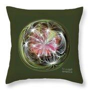 Ornamental Dandelion Throw Pillow