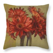 Ornamental Gerbers Throw Pillow