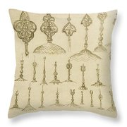 Ornamental Knobs Shaped As Domes Throw Pillow