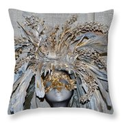 Ornamental Mask Throw Pillow