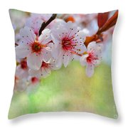 Ornamental Plum II Throw Pillow