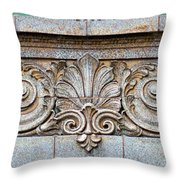Ornamental Scrollwork Panel - Architectural Detail Throw Pillow