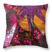 Ornamented Stars Throw Pillow