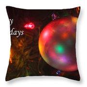 Ornaments-1942-happyholidays Throw Pillow