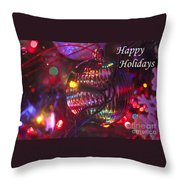 Ornaments-2038-happyholidays Throw Pillow