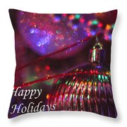 Ornaments-2054-happyholidays Throw Pillow