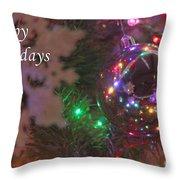Ornaments-2096-happyholidays Throw Pillow